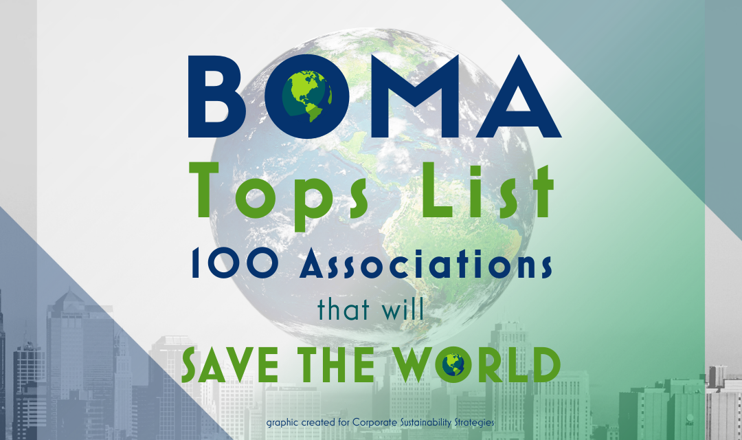 BOMA International Tops List of 100 Associations That Will Save the World
