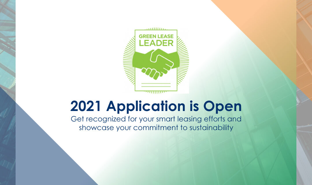 2021 Green Lease Leader Application is Open