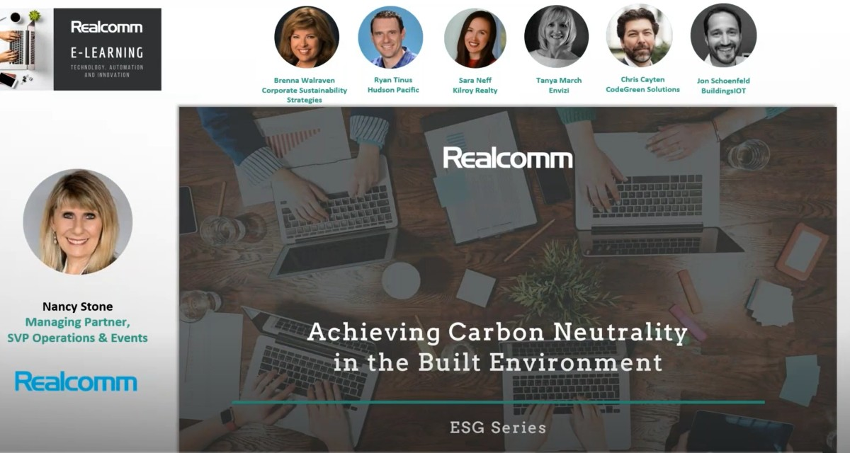 Realcomm: Improving ESG Performance - Achieving Carbon Neutrality in the Built Environment