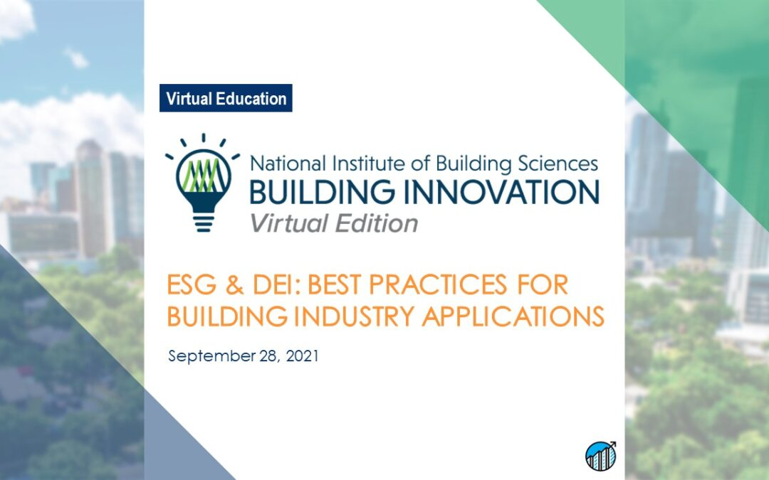 ESG & DEI: Best Practices for Building Industry Applications